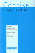 Cover of Concise European Patent Law
