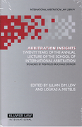 Cover of Arbitration Insights: Twenty Years of the Annual Lecture of the School of International Arbitration