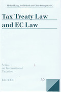 Cover of Tax Treaty Law and EC Law