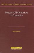 Cover of Directory of EC Case Law on Competition