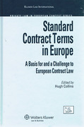 Cover of Standard Contract Terms in Europe: A Basis for and a Challenge to European Contract Law