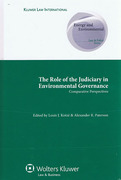 Cover of The Role of the Judiciary in Environmental Governance: Comparative Perspectives