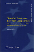 Cover of Towards a Sustainable European Company Law