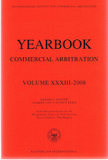 Cover of Yearbook of Commercial Arbitration 2008: Volume 33