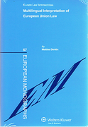 Cover of Multilingual Interpretation of European Community Law