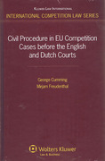 Cover of Civil Procedure in EU Competition Cases before the English and Dutch Courts