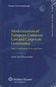 Cover of Modernization of European Company Law and Corporate Governance: Some Considerations on Its Legal Limits