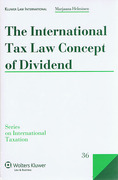 Cover of The International Tax Law Concept of Dividend