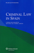 Cover of Criminal Law in Spain