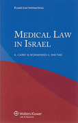 Cover of Medical Law in Israel