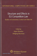 Cover of Structure and Effects in EU Competition Law: Studies on Exclusionary Conduct and State Aid