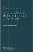 Cover of Procedure and Evidence in International Arbitration