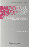 Cover of Energy Charter Treaty: The Notion of Investor