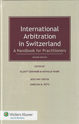Cover of International Arbitration in Switzerland: A Handbook for Practitioners