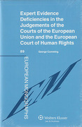 Cover of Expert Evidence Deficiencies in the Judgements of the Courts of the European Union and the European Court of Human Rights