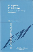 Cover of European Public Law: The Achievement and the Challenge