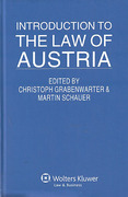 Cover of Introduction to the Law of Austria