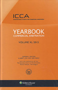 Cover of Yearbook Commercial Arbitration 2015: Volume 40