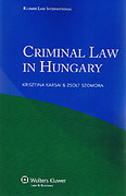 Cover of Criminal Law in Hungary