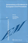 Cover of Dimensions of Evidence in European Civil Procedure