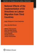 Cover of National Effects of the Implementation of Three EU Directives on Labour Migration from Third Countries