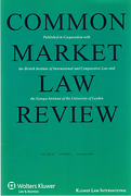 Cover of Common Market Law Review: Print Only