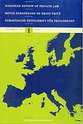 Cover of European Review of Private Law: Print Only