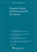 Cover of European Energy and Environmental Law Review