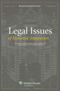 Cover of Legal Issues of Economic Integration