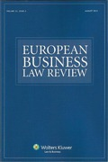 Cover of European Business Law Review: Print Only