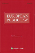 Cover of European Public Law: Print Only