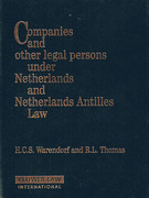 Cover of Companies and Other Legal Persons under Netherlands and Netherlands Antilles Law Looseleaf