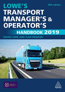 Cover of Lowe's Transport Manager's and Operator's Handbook 2019