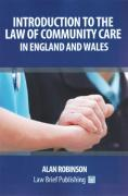 Cover of Introduction to the Law of Community Care in England and Wales