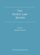 Cover of The Sports Law Review