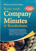 Cover of Ready-Made Company Minutes & Resolutions
