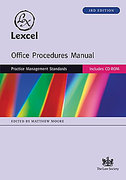 Cover of Lexcel Office Procedures Manual