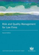 Cover of Risk and Quality Management in Legal Practice
