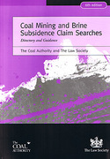 Cover of Coal Mining and Brine Subsidence Claim Searches: Directory and Guidance 6th ed