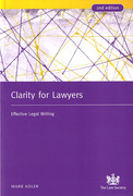 Cover of Clarity for Lawyers: Effective Legal Writing