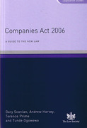 Cover of Companies Act 2006: A Guide to the New Law