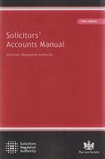 Cover of Solicitors Accounts Manual