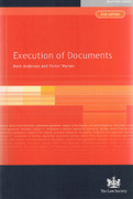 Cover of Execution of Documents