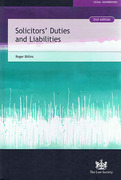 Cover of Solicitors' Duties and Liabilities