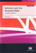 Cover of Solicitors and the Accounts Rules: A Compliance Handbook