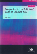 Cover of Companion to the Solicitors Code of Conduct