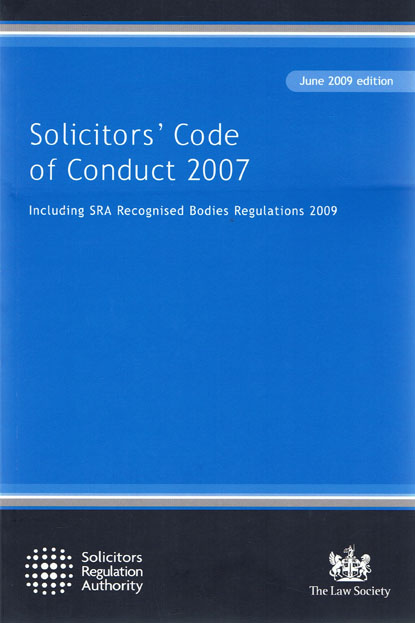 Wildy sons ltd the worlds legal bookshop search results for solicitors code of conduct 2007 including sra recognised bodies regulations 2009 2nd ed fandeluxe Image collections