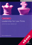 Cover of Leadership for Law Firms: After the Legal Services Act (eBook)