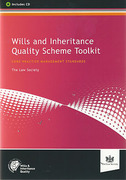 Cover of Wills and Inheritance Quality Scheme Toolkit