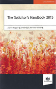 Cover of The Solicitor's Handbook 2015